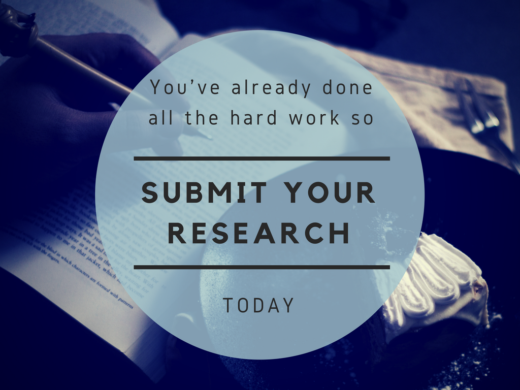 Submit your research today